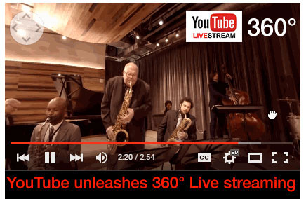YouTube announces 360 degree Live streaming – takes on Facebook
