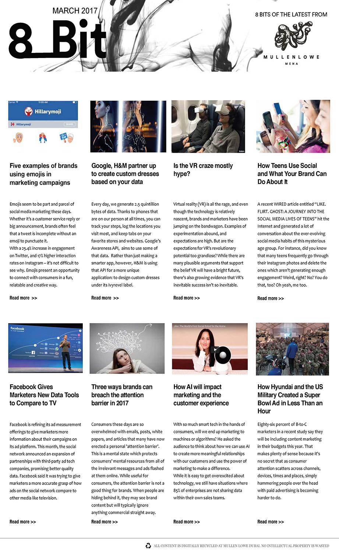 MullenLowe MENA Digital Newsletter March 2017 – MCN